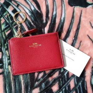 Coach Bags - COACH Red Gold Credit Card Wallet NEW